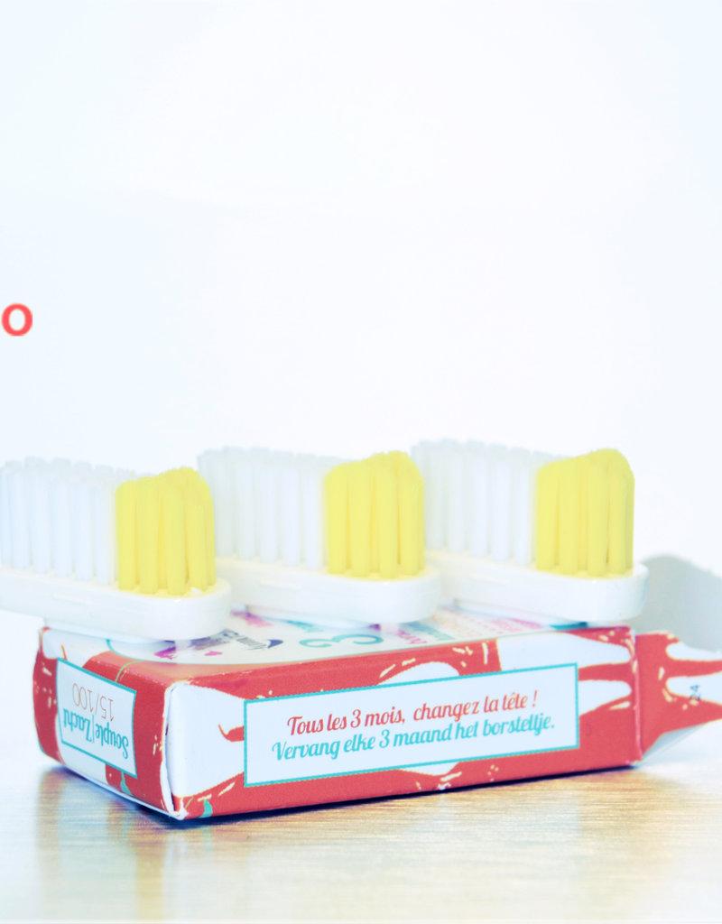 Blum Distribution Recharge tête de brosse à dents (3 recharges) - Lamazuna