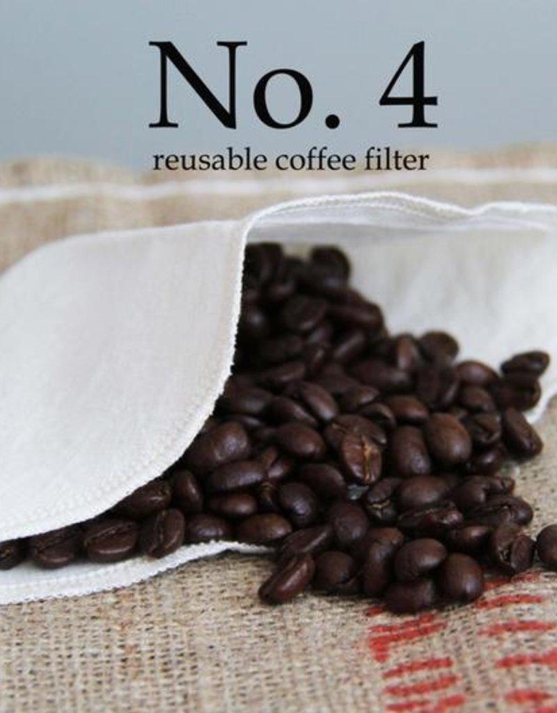 Lunitouti Filtre à café biodégradable no.4 (chanvre et coton biologiques) - lot de 2