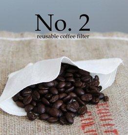 Lunitouti Filtre à café biodégradable no.2 (chanvre et coton biologiques) - lot de 2