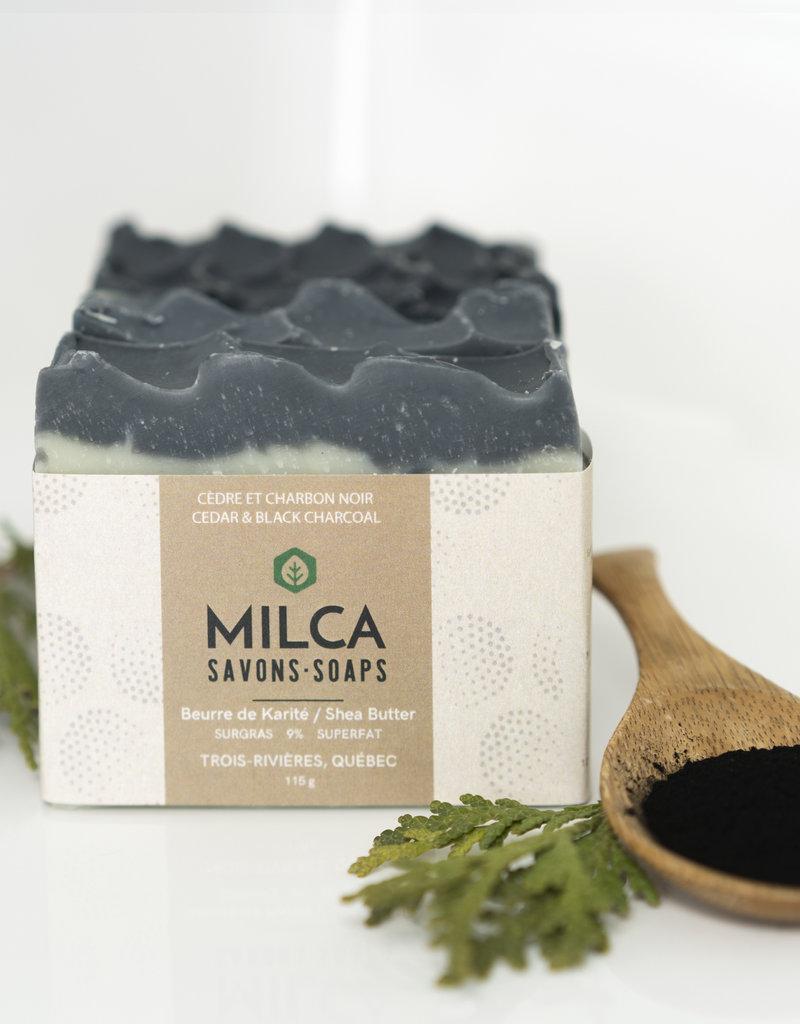 Les Savons Milca Savon Cèdre et charbon