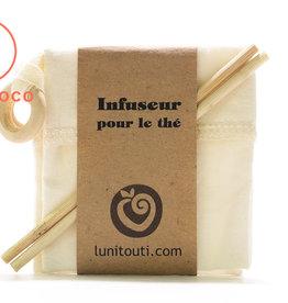 Lunitouti Sachet à thé réutilisable (chanvre et coton biologiques) - lot de 2