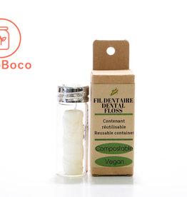 Éco Zéro Déchet Fil dentaire compostable en contenant rechargeable