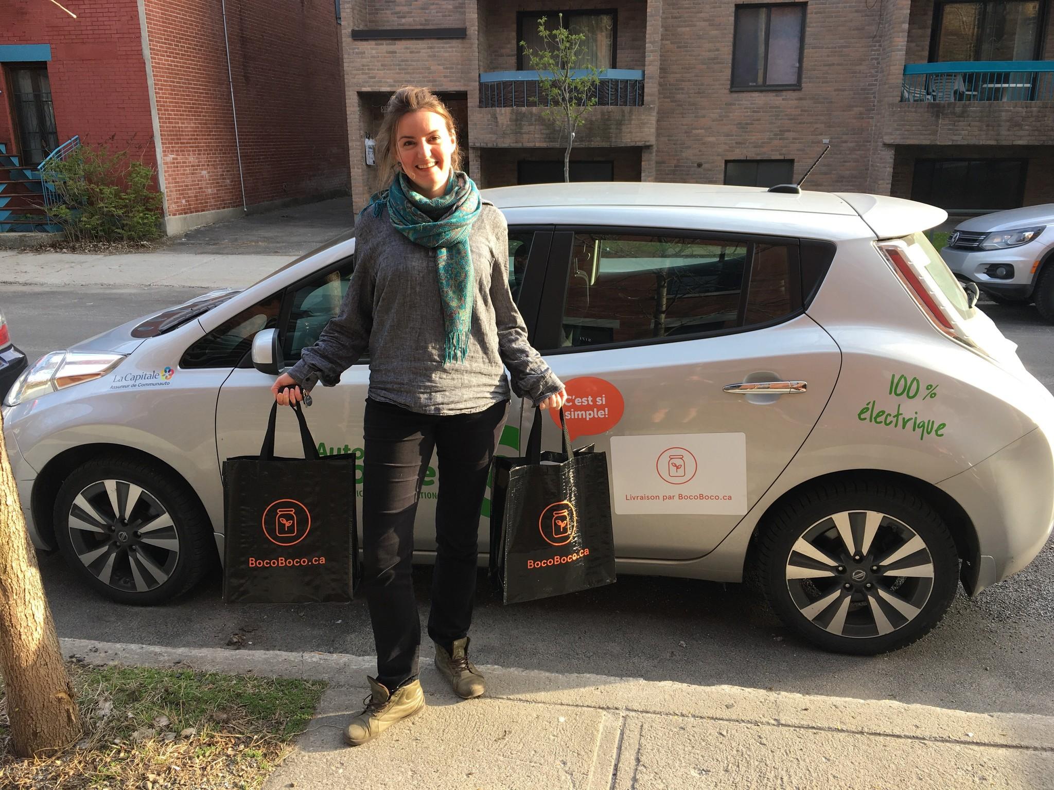 Épicerie zéro déchet BocoBoco livrée à Montréal en Communauto