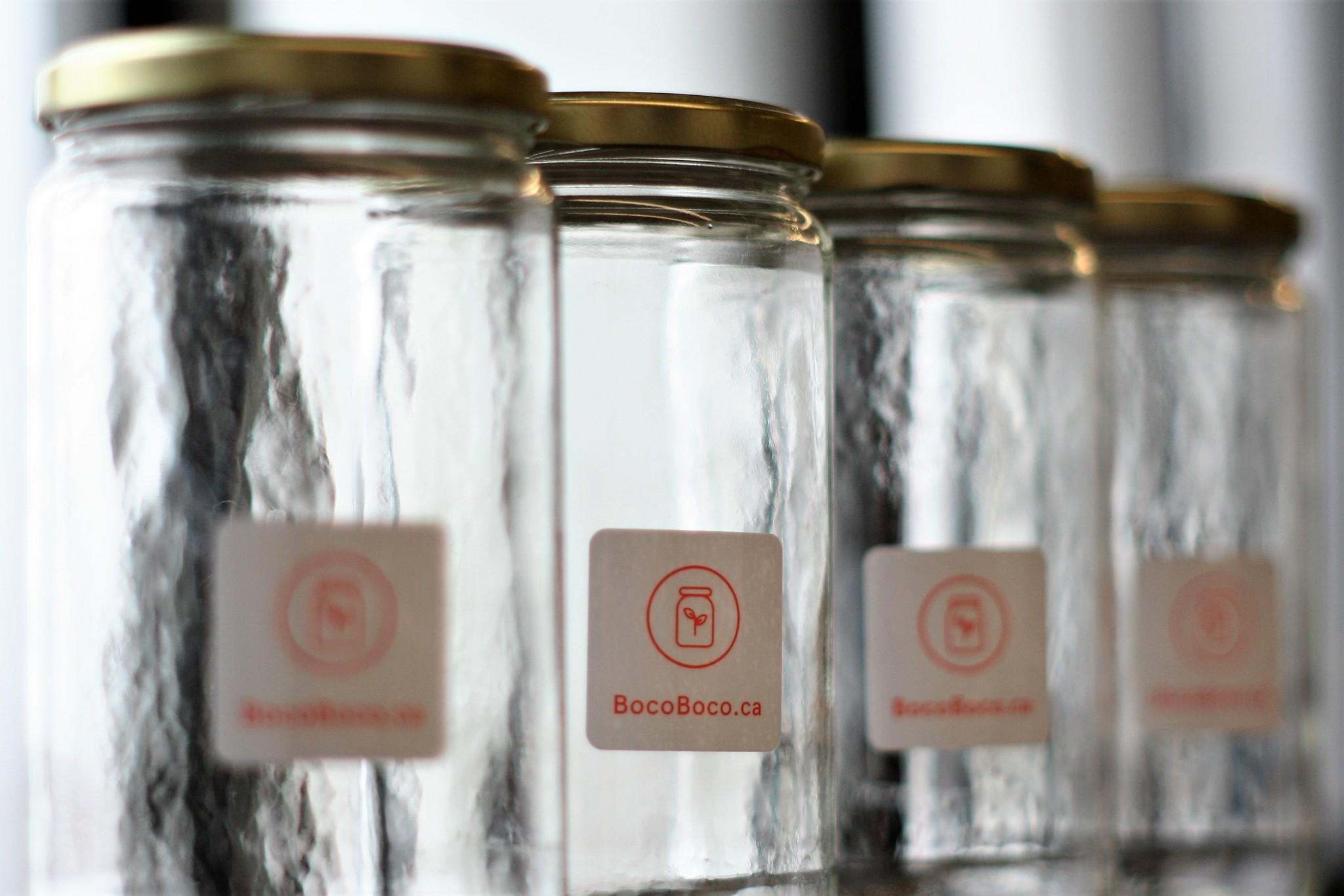 Contenants consignés BocoBoco pour une épicerie zéro déchet