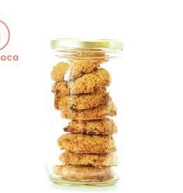Les Ah de Line Biscuits avoine, fraises, cajou et chocolat (8 biscuits)