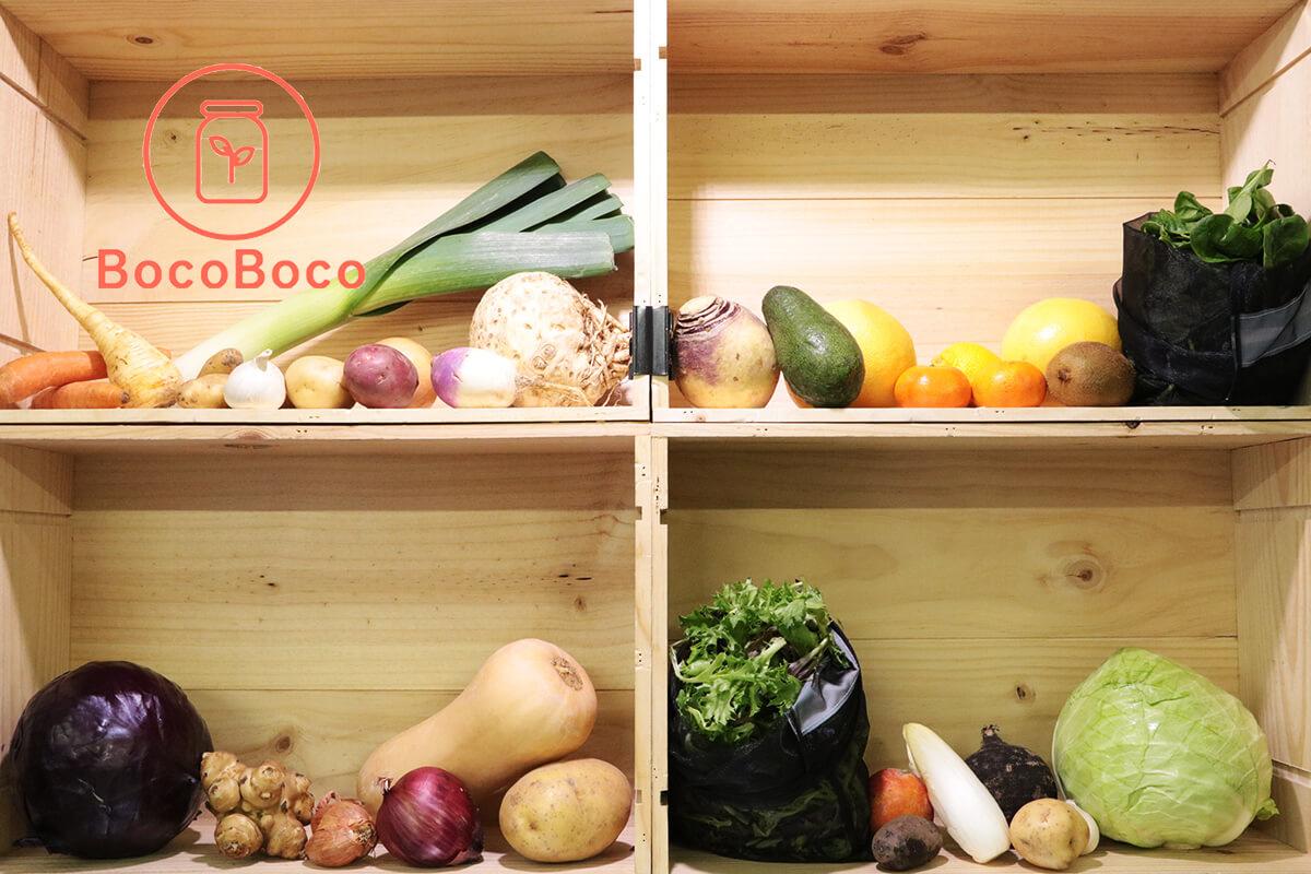 BocoBoco propose des fruits et légumes sur son épicerie