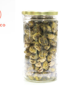 Olive Pressée Olives vertes grillées à l'ail et au basilic (400 gr)