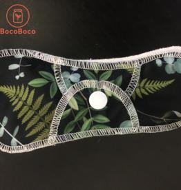 Omaïki Serviettes d'hygiène féminine - Taille Mini-Maxi - Fougères (Lot de 2)