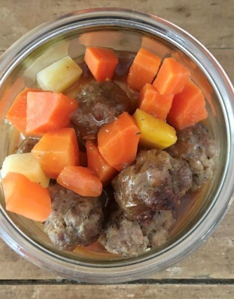 Bocobistro Boulettes de veau du Québec au citron et thym, purée de pommes de terre et légumes (375 gr)