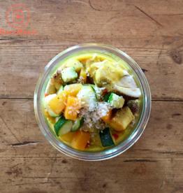 Restaurant Bocobistro - Bistro français en bocaux Sauté de poulet coco-cari, riz madras et légumes (375 gr)