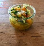 Bocobistro Tofu sauté sauce coco-cari, riz Madras et légumes (375 gr)