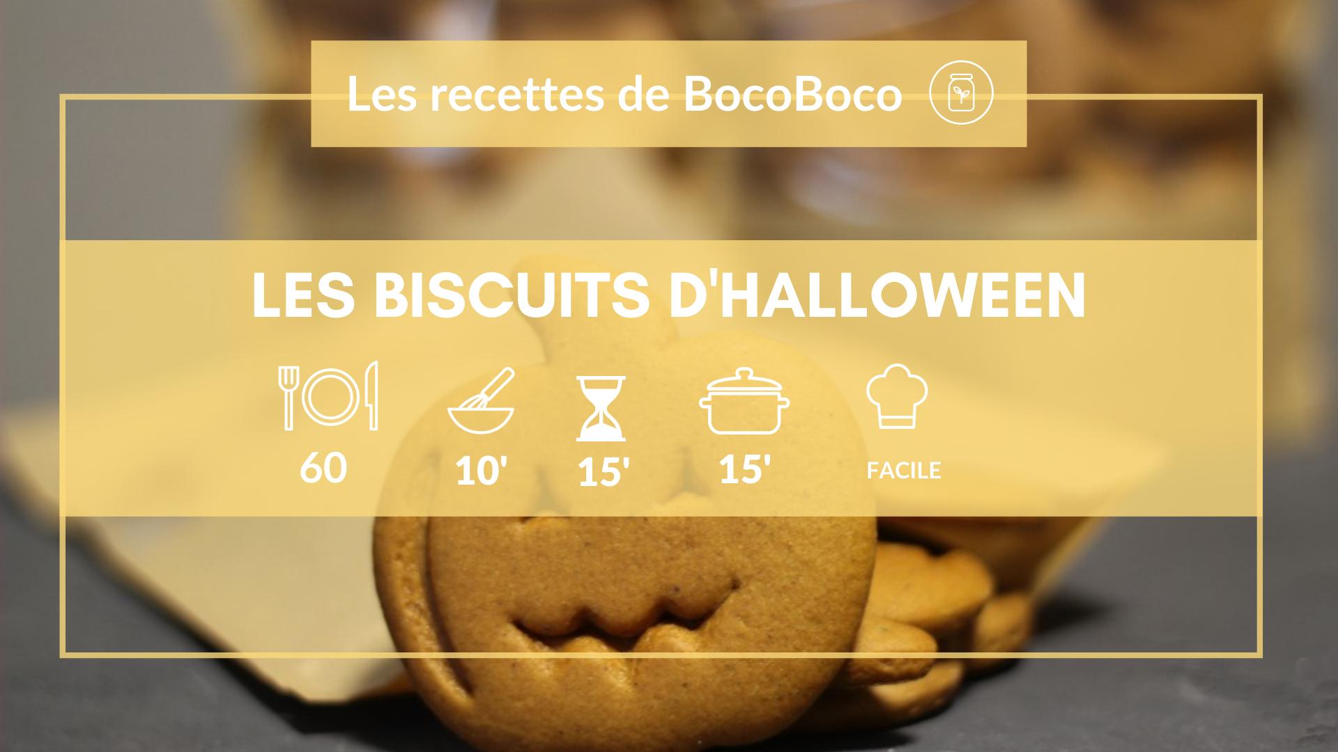 Recette des biscuits croquants d'Halloween