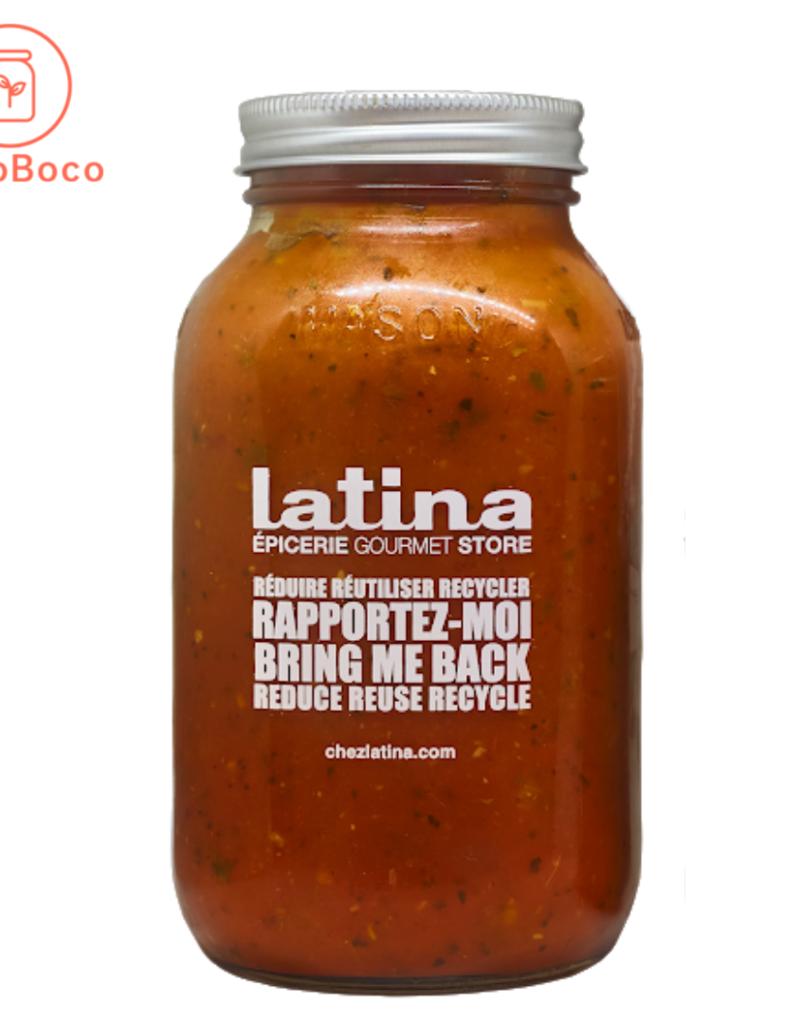 Latina - sauces et soupes prêt-à déguster Sauce Tomate et basilic (900 mL)