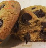 Pâtisserie Maison BonBec Mini cookies huile d'olive et chocolat (lot de 6)