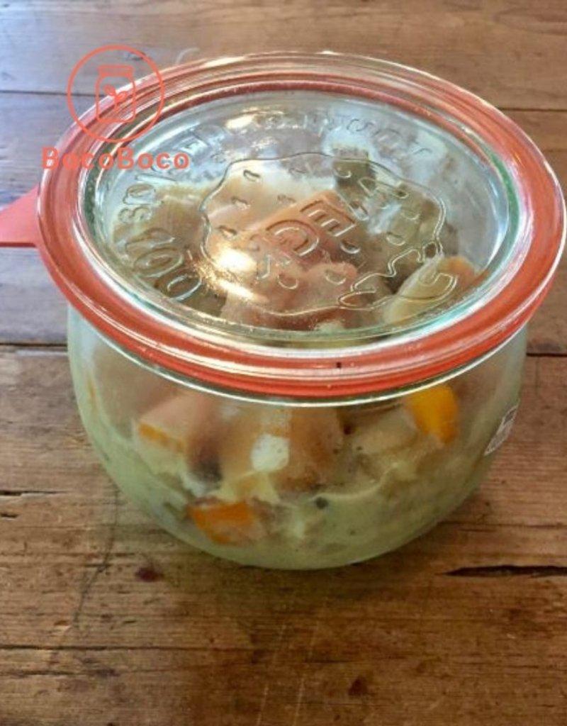 Bocobistro Sauté de porc à la moutarde, purée de pommes de terre et légumes (375 ml)