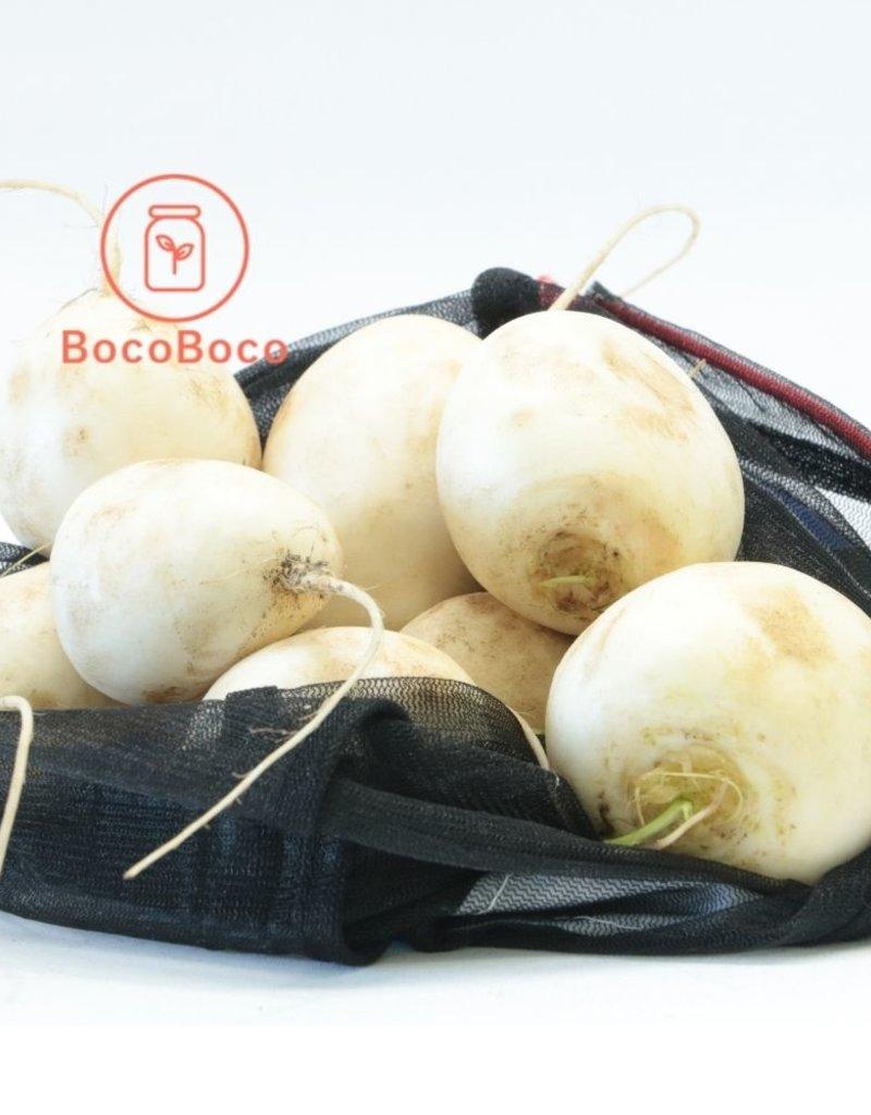 BocoBoco - maître fruitier Mini navet Hakurei biologiques, Jardins de la pinède