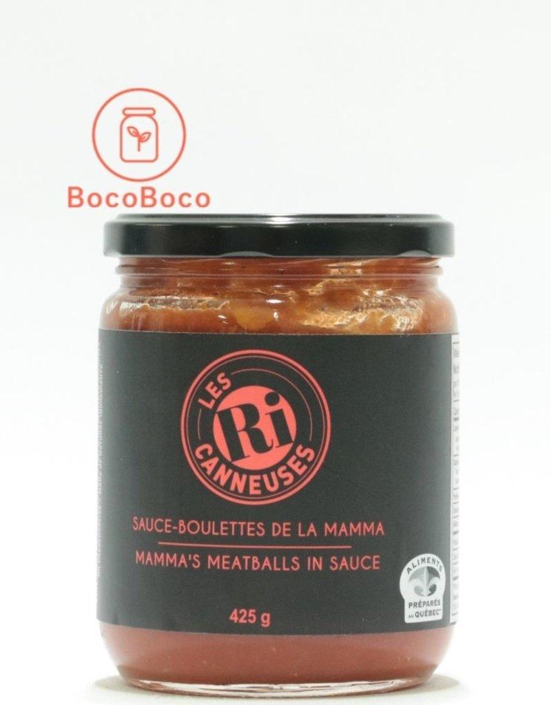 Les Ri-canneuses - plats en bocaux Sauce-boulettes de la Mamma (425gr)