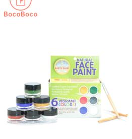 Kit de maquillage  naturel pour enfants - peinture naturelle - 6 couleurs