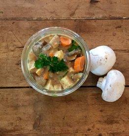 Bocobistro Tofu sauce moutarde et champignons, purée de pommes de terre, légumes de saison (375 ml)