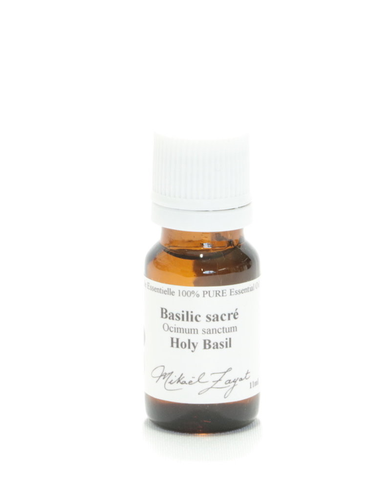 Zayat Aroma Inc. Huile essentielle biologique de basilic sacré (11 ml)