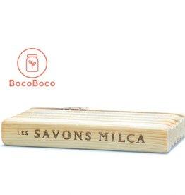 Les Savons Milca Porte-savon en cèdre fait au Québec