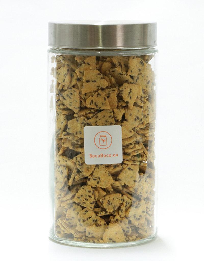 Tootsi Impex Croustilles de maïs avec graines de lin (225gr et 600 gr)