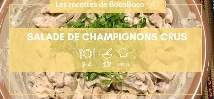 La recette de la semaine : salade express de champignons de paris au labneh