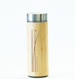 Camellia Sinensis - Maison de thés Bouteille à thé en porcelaine fini bambou (275 ml)