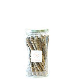 Saison 2 - Craquelins de drêches Bâtonnets - sapin baumier et ail (125 gr)