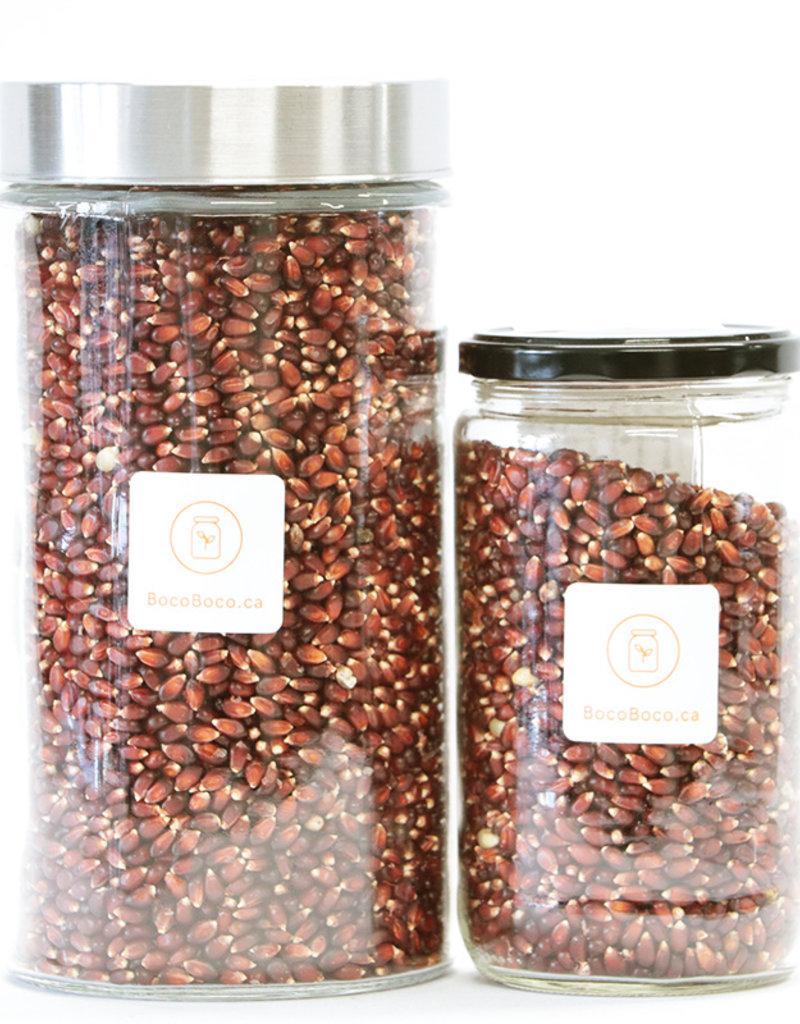 Fermes Valens Maïs à éclater rouge- Biologique (575 gr et 1.5 kg)