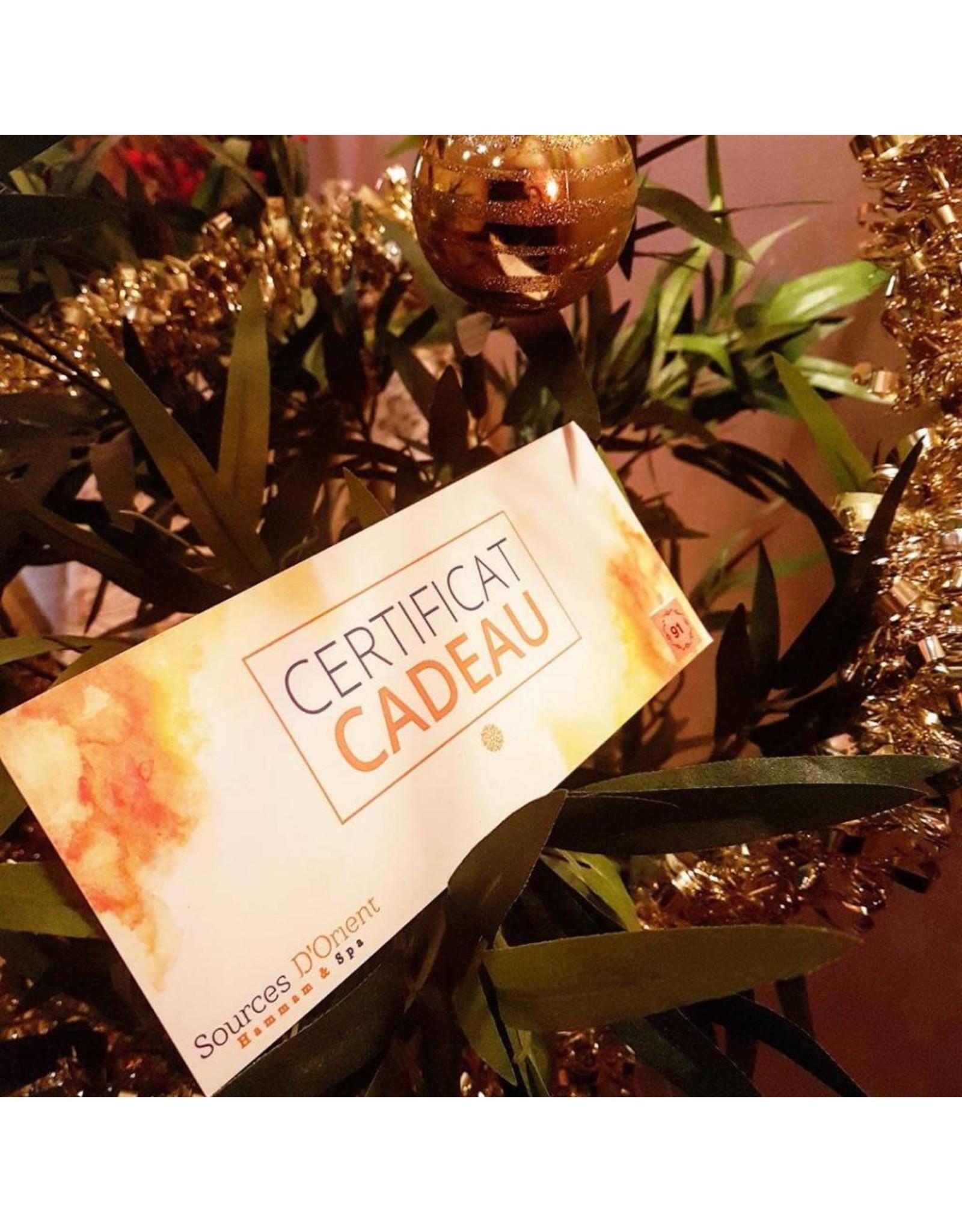 Certificats Cadeaux 75$