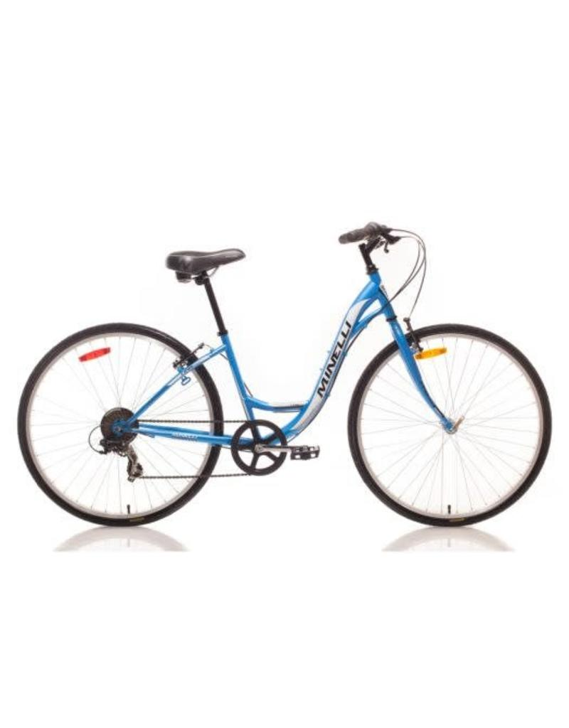 Minelli Vélo de Ville - MINELLI Revo 7 Femme Bleu/Blanc (2017)