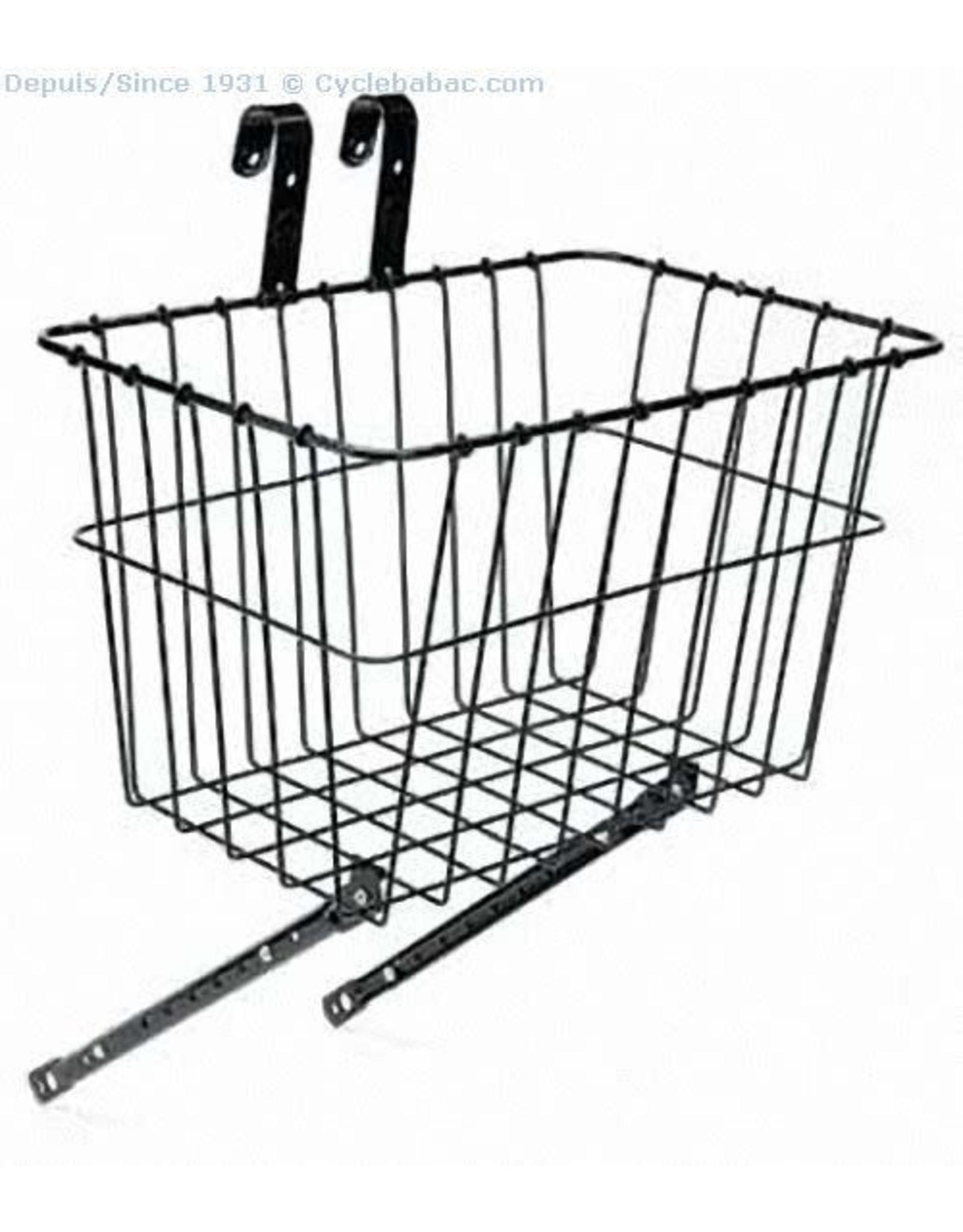 WALD Front Basket Black Adjustable Bracket