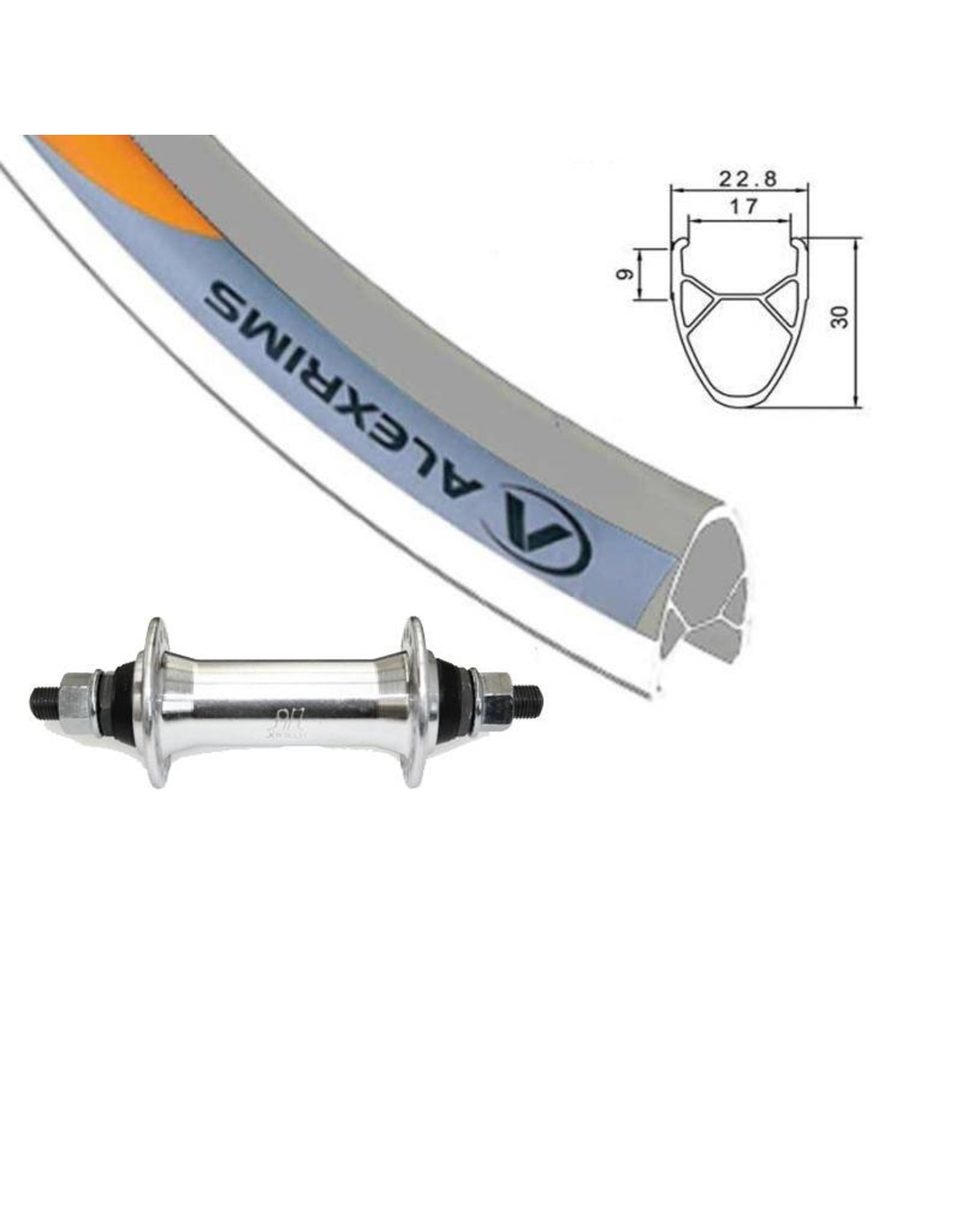 ALEXRIMS Roue AV Hybride 700 G6000 Argent