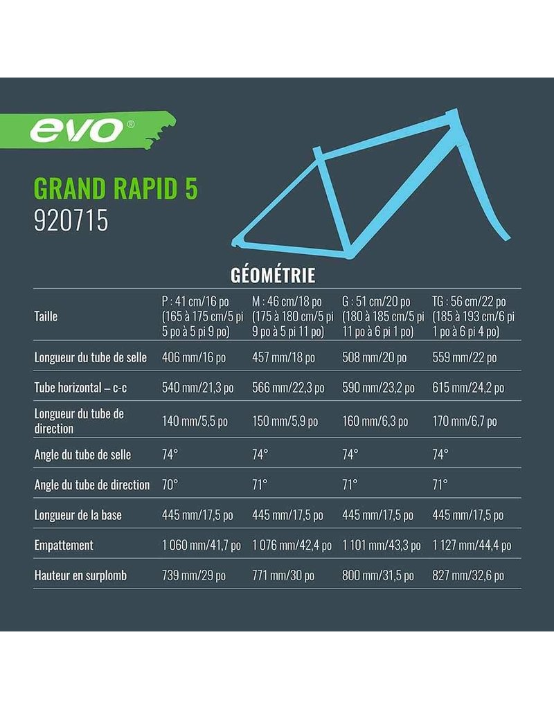 EVO Vélo Hybride - Grand Rapid 5