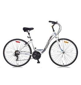 "Minelli Vélo Hybride - MINELLI Silhouette Femme Blanc 16"" (2018)"