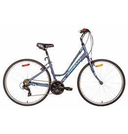 "Minelli Vélo Hybride - MINELLI Silhouette Femme Gris/Bleu"""