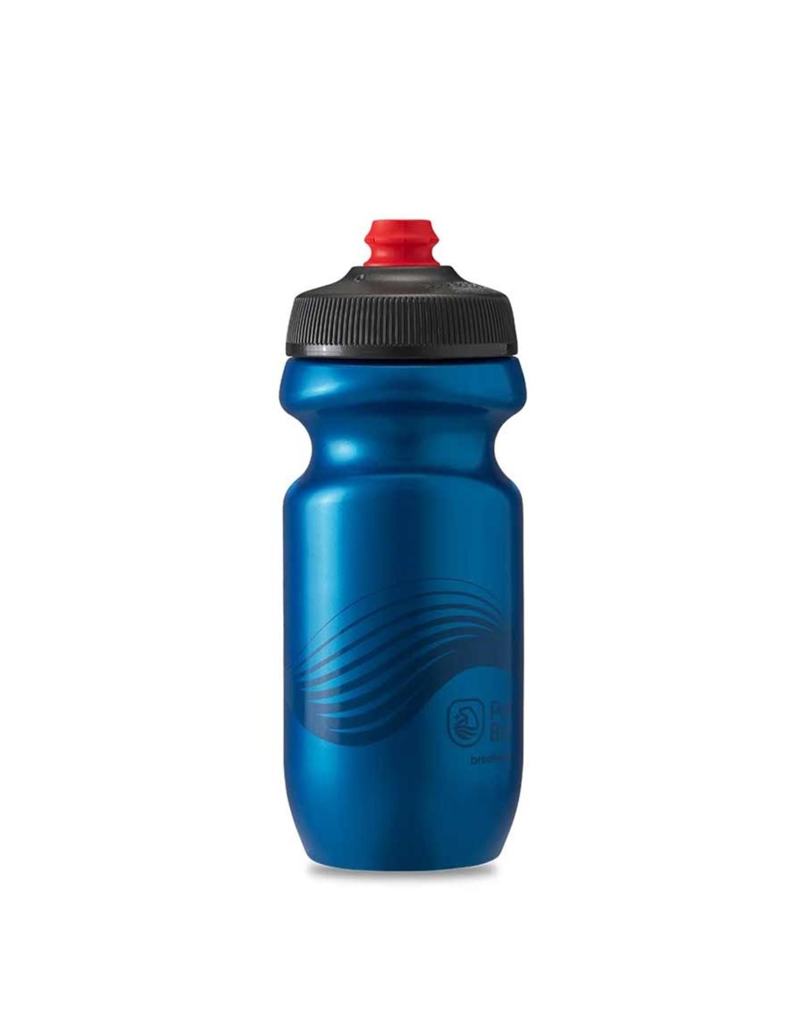 Polar Bottle Gourde 591ml / 20oz, Bleu Foncé/Anthracite