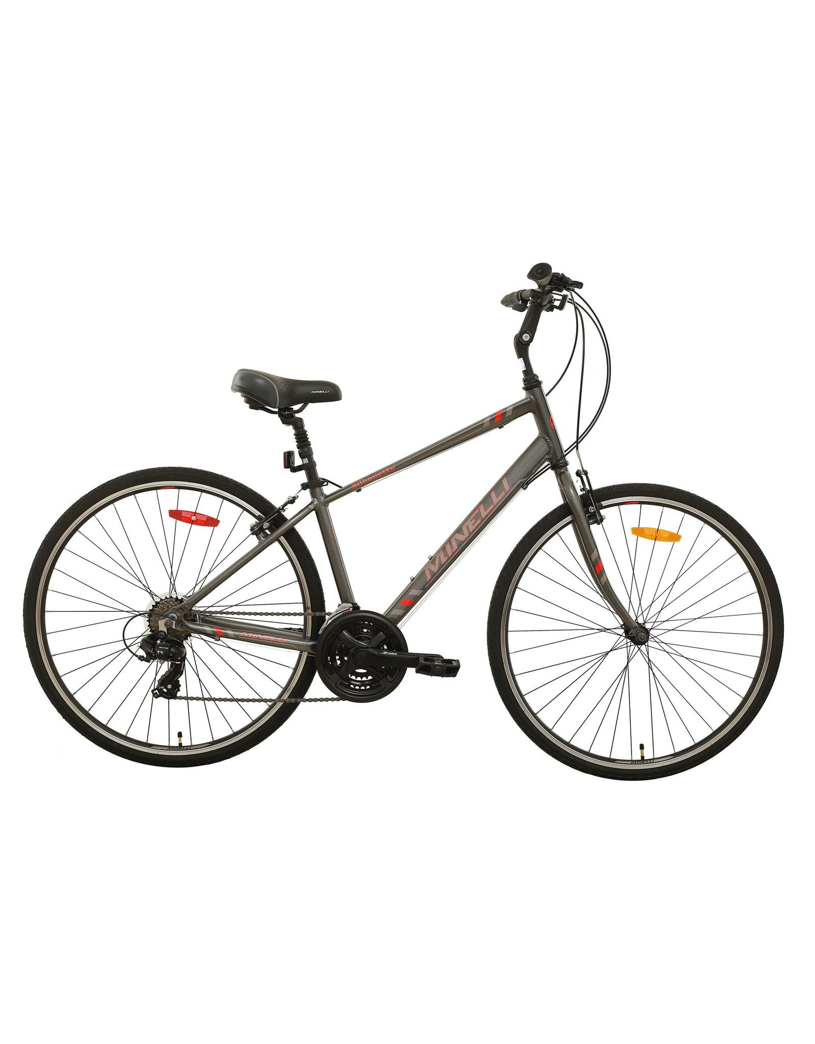 Minelli Hybrid Bike - MINELLI Silhouette Man Black / Silver