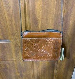 Patricia Nash Tooled crossbody lanza purse