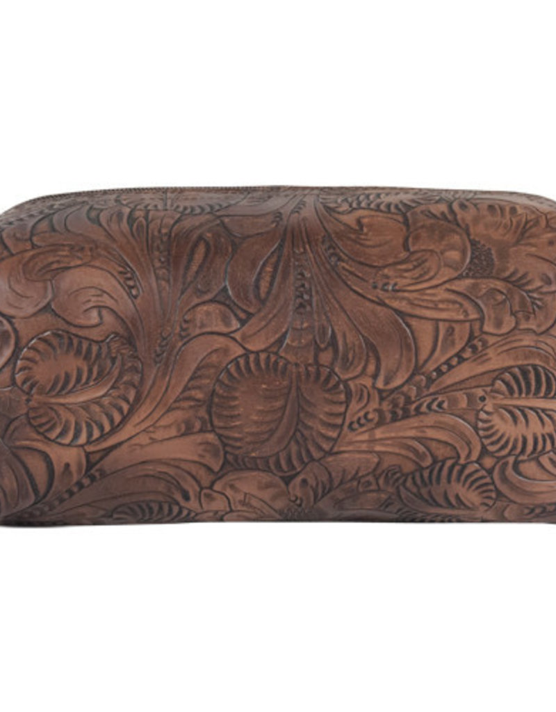 Justin Large Cosmetic Bag Tooled