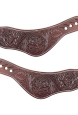 MARTIN Spur Straps Dove Wing Choc Rose Flower Womens