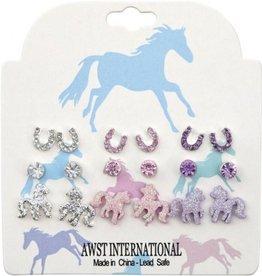 Chick Saddlery Sparkling Ponies Assorted Earring Set