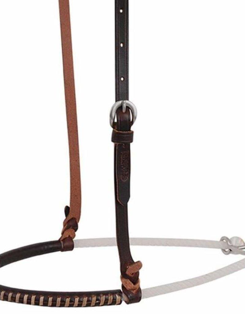 MARTIN Noseband Single Rope Choc Harness Covered