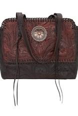 American West Annies Secret Collection Zip Top Tote W/ Secret Compartment