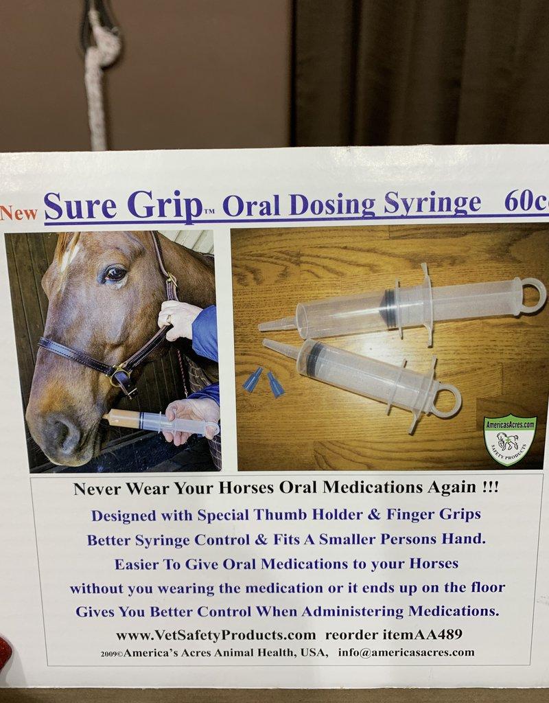 America's Acres Syringe - SureGrip Oral Dosing Medication & Feeding