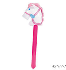 Oriental Trading Inflatable Cowgirl Stick Horse