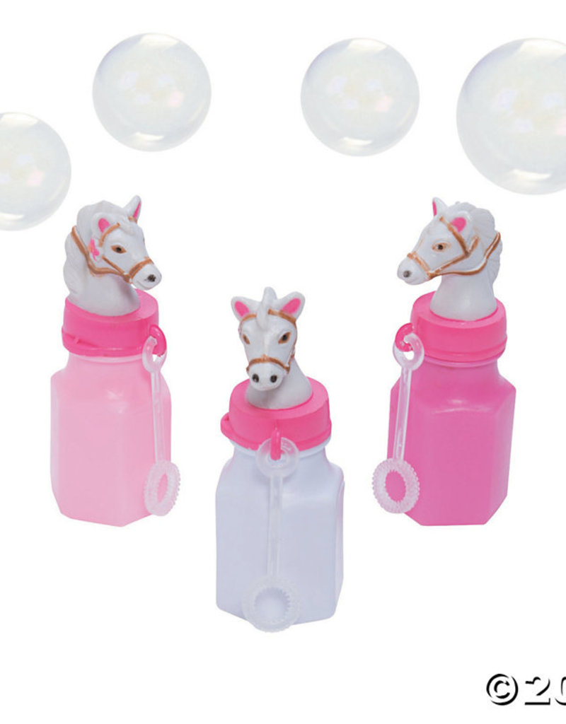 Oriental Trading PInk Cowgirl Bubble Bottles