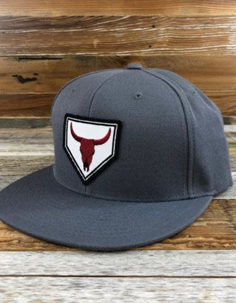 Go Rope Steer Patch Flat Bill Trucker Hat