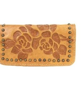 American West Texas Rose Tri-Fold Wallet